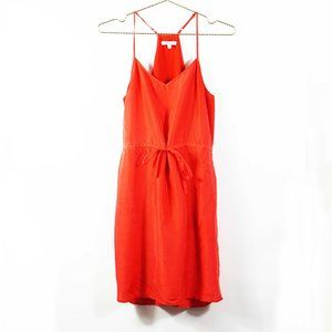 Madewell Silk Starview Cami Dress in Red 2